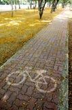 Cykeltrottoar Royaltyfri Bild