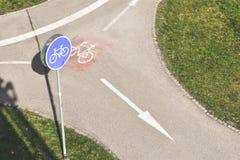 Cykelväg i parkera Royaltyfri Fotografi