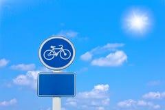 cykelvägrentecken fotografering för bildbyråer