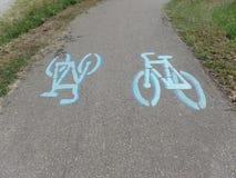 Cykl ścieżka w Włoskiej wsi zdjęcia stock