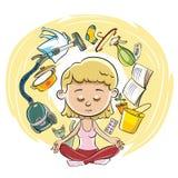 Cykl kobieta koncerny ilustracji