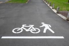 Cykl, pieszy chodniczek w Auckland i footpath lub, Nowy Zeala Fotografia Stock