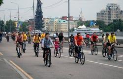 Cykl rasa w Moskwa zdjęcia royalty free