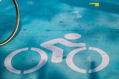 Cykl rower i ślad zdjęcie royalty free