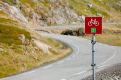 Cykl trasa podpisuje wewnątrz Południowego Norwegia obraz stock