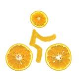 cykla apelsiner Arkivbild