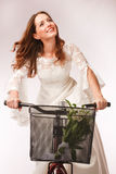 Cykla away brud Royaltyfria Foton