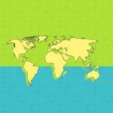 Cykla bakgrund och översikten av världen Royaltyfri Fotografi