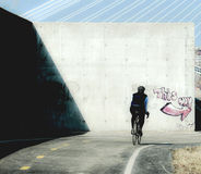 cykla banan Arkivbilder