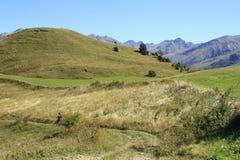 cykla dalen för den bergpyrenees tenaen Arkivbild