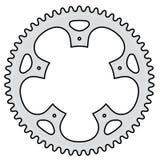 cykla den crank vektorn royaltyfri illustrationer