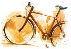 cykla det grunda cykla perspektiv för berg för händer för skogen för fokusen för cyklistdjupfältet Royaltyfria Bilder
