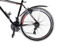 cykla det grunda cykla perspektiv för berg för händer för skogen för fokusen för cyklistdjupfältet Fotografering för Bildbyråer