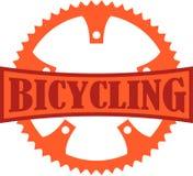 Cykla emblemet Royaltyfria Bilder