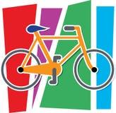 cykla färgrikt Arkivfoto