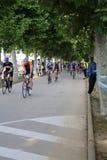 Cykla för övning för Triathlontriathletesport sunt Royaltyfri Fotografi