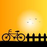 Cykla för bygd Arkivbilder