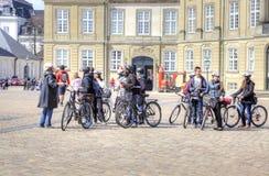 Cykla för grupp Arkivbild