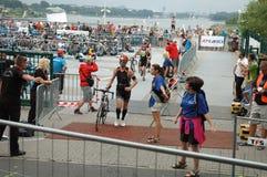 Cykla för Poznan Triathlon Royaltyfri Fotografi
