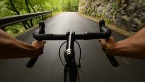 Cykla för väg arkivfilmer
