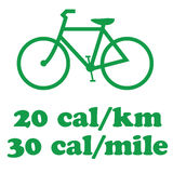 cykla gående green Arkivfoton