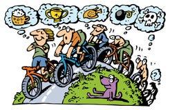 cykla grupp vektor illustrationer
