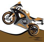 Cykla, hopp på motorcykeln och ytterlighetsportar Sportbike Motobike sats för sportkropp Royaltyfria Bilder