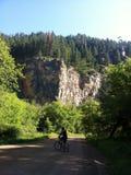 Cykla i Blacket Hills Arkivbild