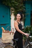Cykla i St Tropez Arkivfoton