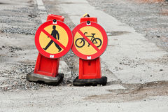 cykla inget gå Royaltyfri Fotografi