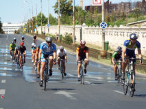 Cykla konkurrens i Bucharest Royaltyfria Foton