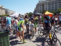Cykla konkurrens i Bucharest Arkivfoton