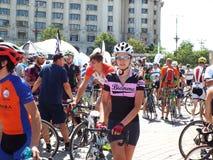 Cykla konkurrens i Bucharest Fotografering för Bildbyråer