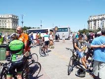 Cykla konkurrens i Bucharest Arkivfoto