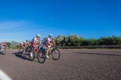 Cykla kullen för loppkvinnaledare Arkivbild