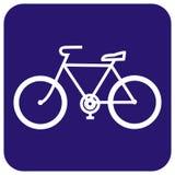 Cykla lagring, underteckna, blåttramen, vektorsymbol Fotografering för Bildbyråer