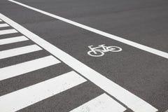 Cykla lane i Japan arkivbilder