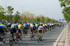 Cykla loppet, Asien sportaktivitet, vietnamesisk ryttare Royaltyfria Foton