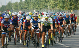 Cykla loppet, Asien sportaktivitet, vietnamesisk ryttare Arkivfoton