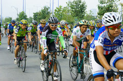 Cykla loppet, Asien sportaktivitet, vietnamesisk ryttare Royaltyfri Bild