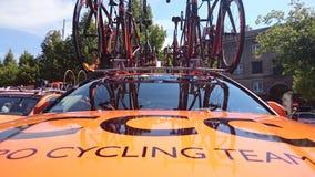Cykla loppet turnera de Pologne i den Czestochowa staden Fotografering för Bildbyråer