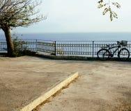 Cykla på invallning på havet, trädgård med inget fotografering för bildbyråer
