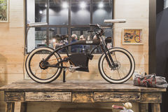 Cykla på skärm på EICMA 2014 i Milan, Italien Royaltyfria Bilder