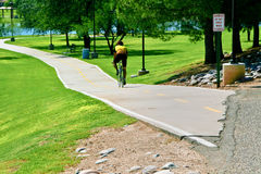 cykla parken Arkivbild
