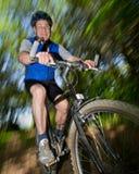 cykla pensionär Arkivfoto