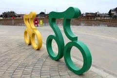 Cykla skulpturer royaltyfri foto