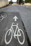 Cykla till stranden Arkivbilder
