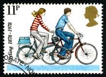 Cykla UK-portostämpeln Fotografering för Bildbyråer
