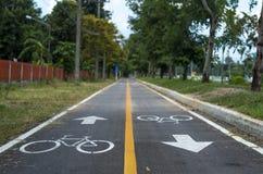 cykla vägen Arkivfoto