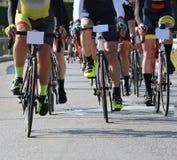 Cykla vägloppet Arkivbild